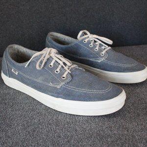 Vans Men's Size 11.5 Brigata Canvas Boat Shoes Denim Blue